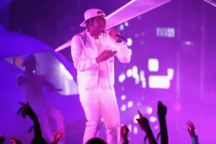 Pusha T performing at the bet awards 2012