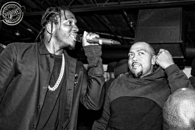 Pusha T and Timbaland together