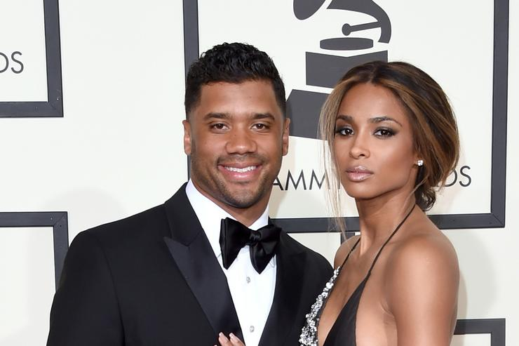 Russell Wilson and Ciara at the Grammys.
