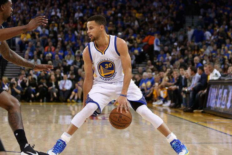 Steph Curry at Los Angeles Clippers v Golden State Warriors