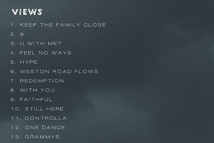 VIEWS tracklist & back cover
