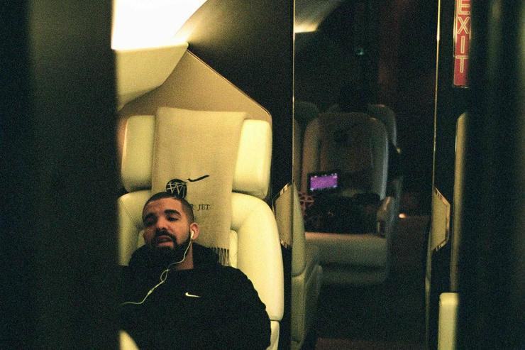 Drake on private jet