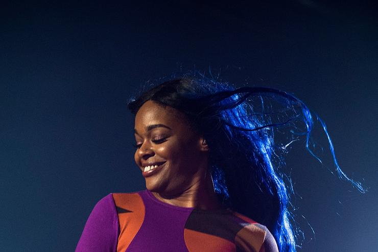 Azealia Banks performing at a festival