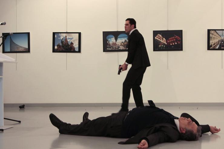 Russian Ambassador to Turkey shot & killed