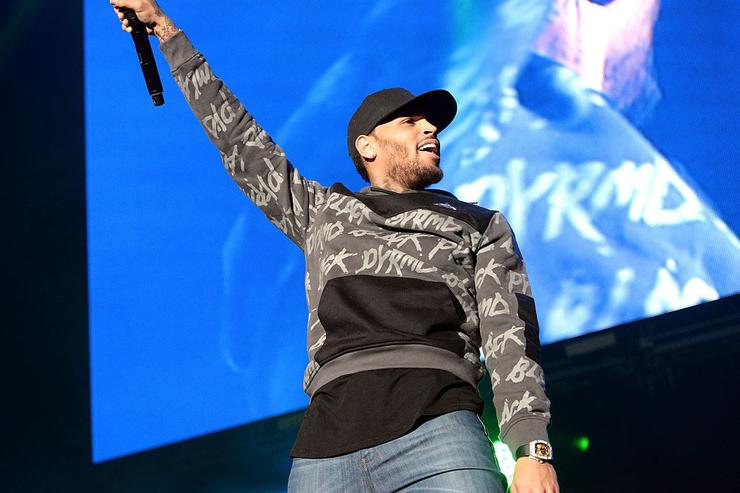 Singer Chris Brown performs onstage during the 92.3 Real Show at The Forum on November 5, 2016 in Inglewood, California.