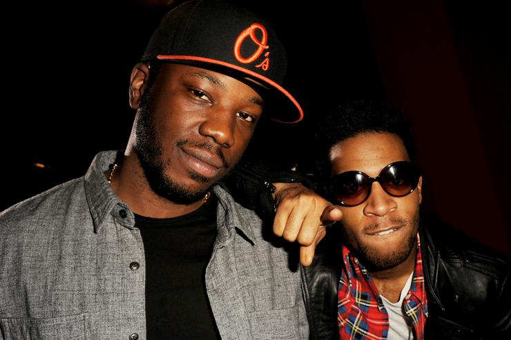 """Dot Da Genius and Kid Cudi at premiere of Warner Brother's.""""Project X"""""""