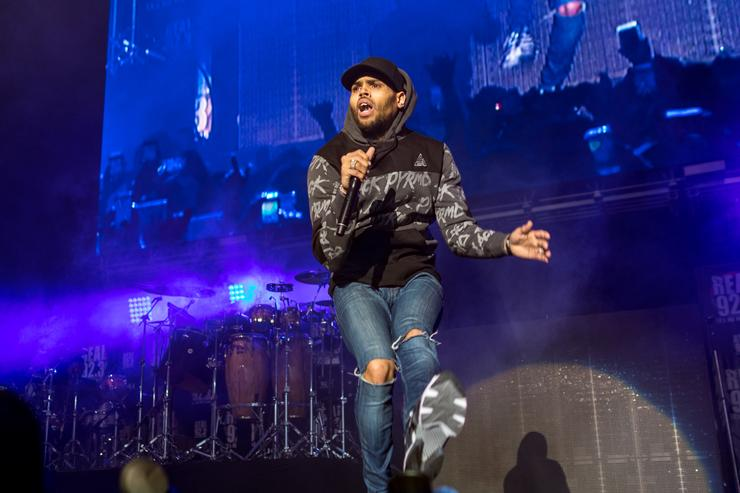 Chris Brown performing at The Forum in LA for Ther Real 92.3's The Real show.