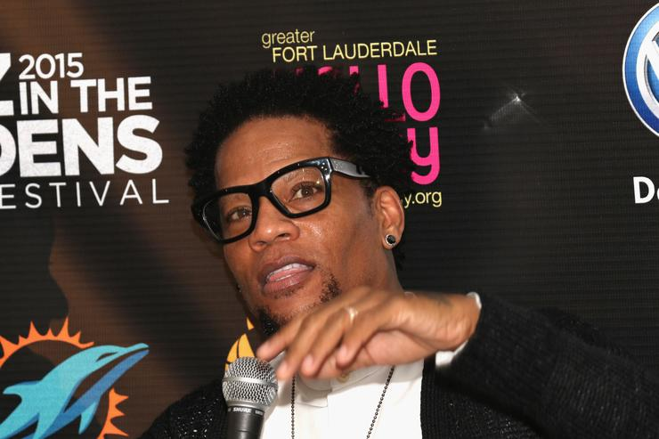 DL Hughley at the 10th annual Jazz In The Gardens festival.