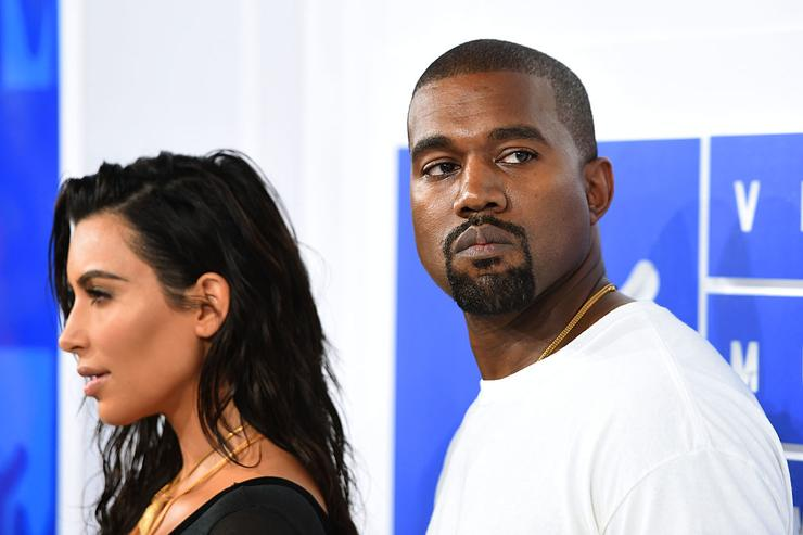 im Kardashian West and Kanye West attend the 2016 MTV Video Music Awards at Madison Square Garden on August 28, 2016 in New York City.