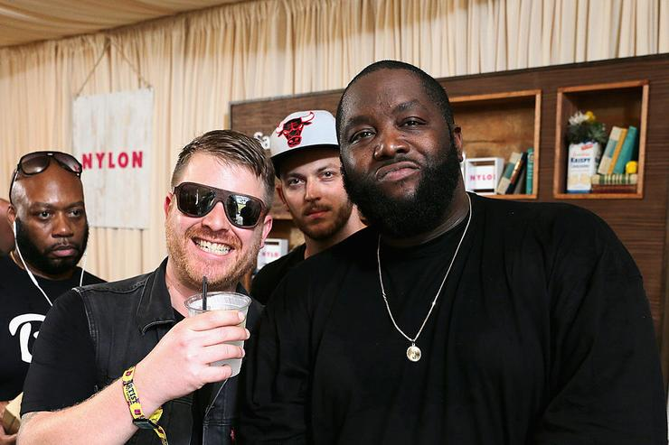 El-P, Trackstar, and Killer Mike of Run the Jewels at the Samsung Galaxy Artist Lounge at Lollapalooza at Grant Park on August 3, 2014 in Chicago, Illinois.