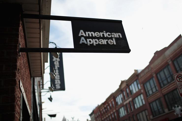 American Apparel storefront in Chicago.