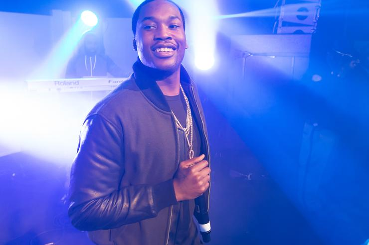 Meek Mill performing at Bicardi House party event.
