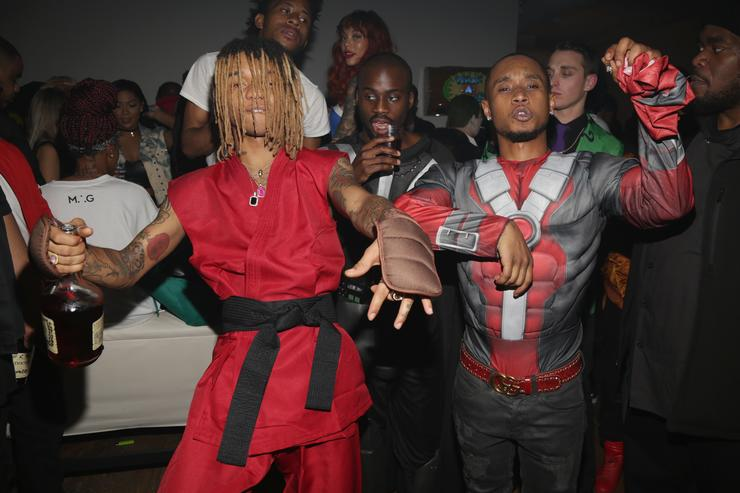 Rae Sremmurd at 25th birthday party in Los Angeles 2016.