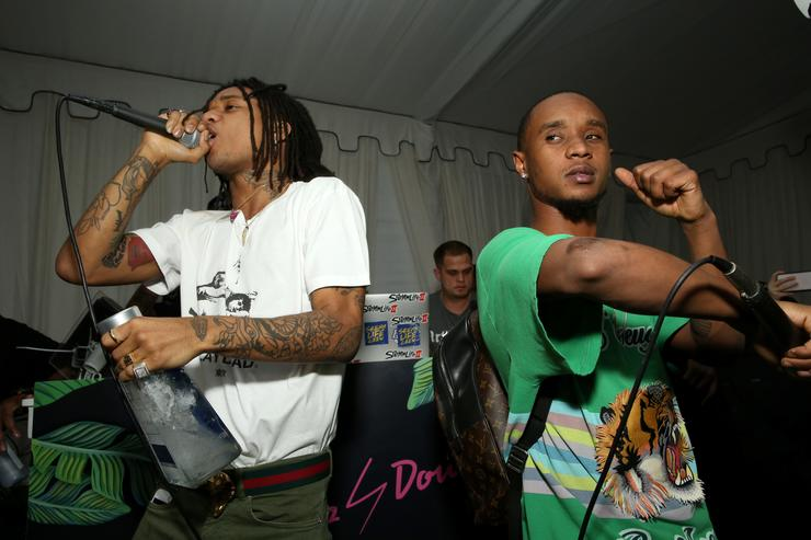 Rae Sremmurd performing at Billboard X 1800 Tequila presents In Focus: Hip Hop through the lens of photographer.