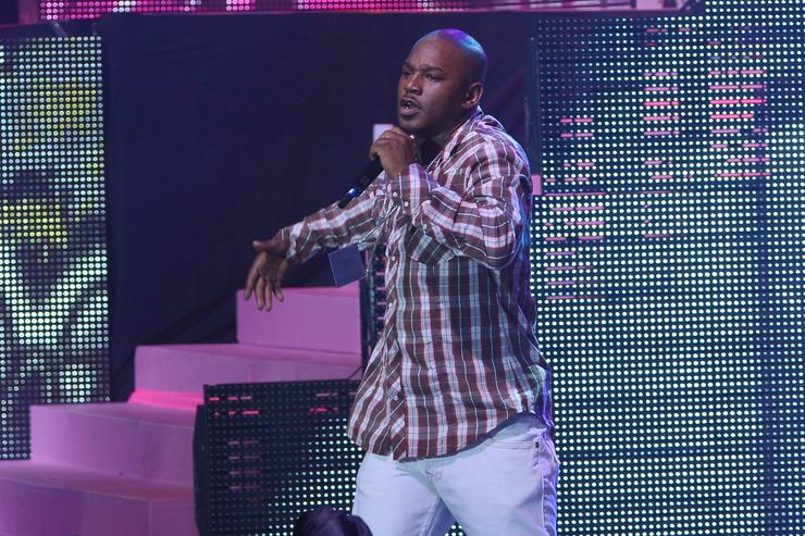 Camron perform at Nicki Minaj's Pink Friday tour in New York City.