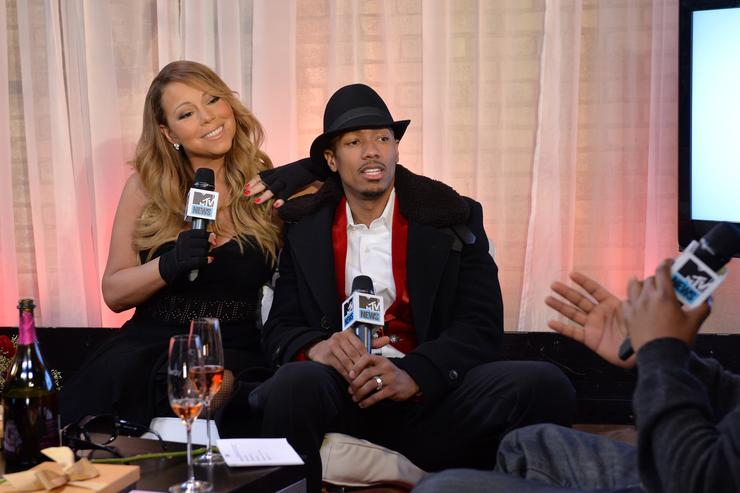 Nick Cannon and Mariah Carey on MTVFirst.