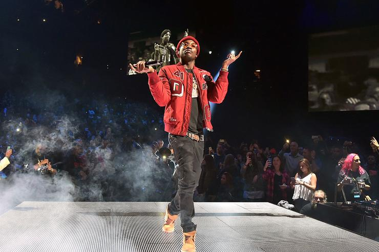 Meek Mill performs onstage during TIDAL X: 1020 Amplified by HTC at Barclays Center of Brooklyn on October 20, 2015 in New York City.