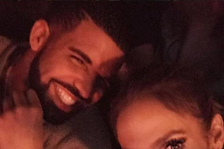 Drake and Jennifer Lopez share a selfie together.