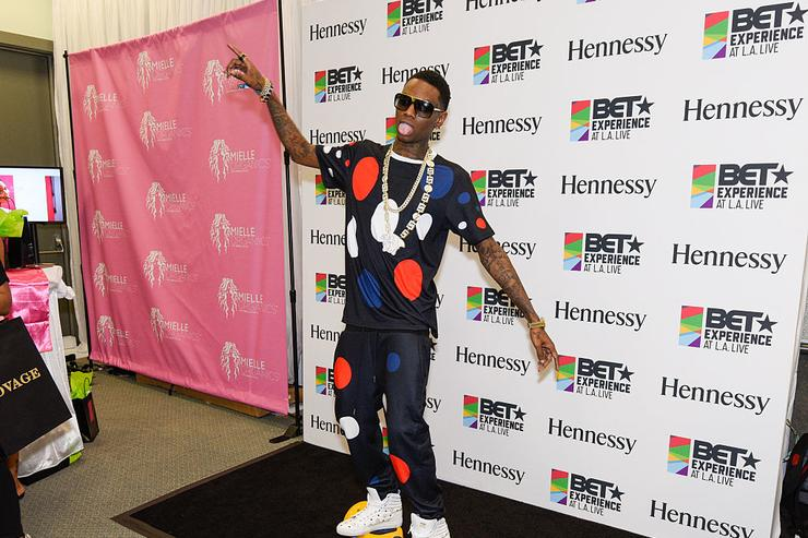 Soulja Boy attends the official BET Experience gifting suite sponsored by Hennessy at Los Angeles Convention Center on June 27, 2015 in Los Angeles, California.