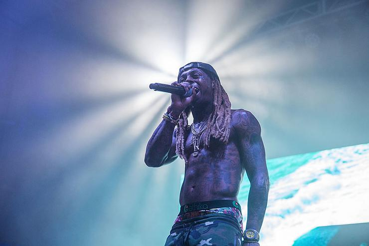 Lil Wayne takes the stage at the Bud Light Party Convention in Houston, August 13, 2016. Bud Light - America's most popular and inclusive beer brand - is taking the Bud Light Party on the road with 13-city Convention Tour from 8/5-8/27 at Silver Street Studios on August 13, 2016 in Houston, Texas.