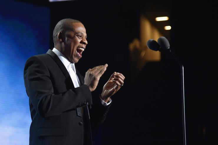 Jay Z at Sports Illustrated Sports Person of the year ceremony.