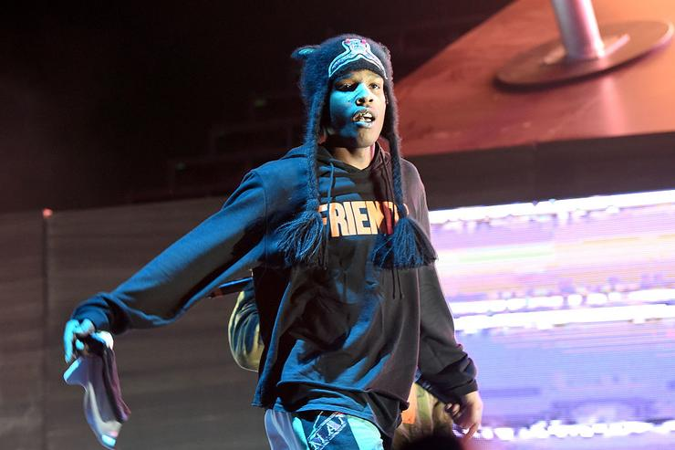 ASAP Rocky performs on Camp Stage during day one of Tyler, the Creator's 5th Annual Camp Flog Gnaw Carnival at Exposition Park on November 12, 2016 in Los Angeles, California.