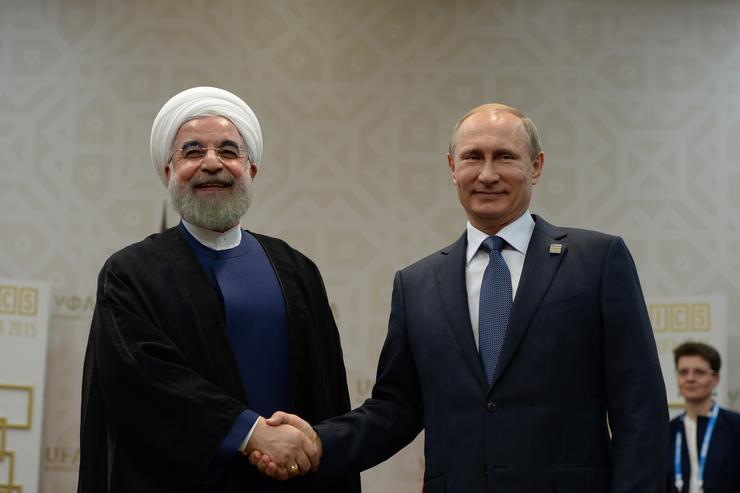 Hassan Rouhani at BRICS/SCO summit.