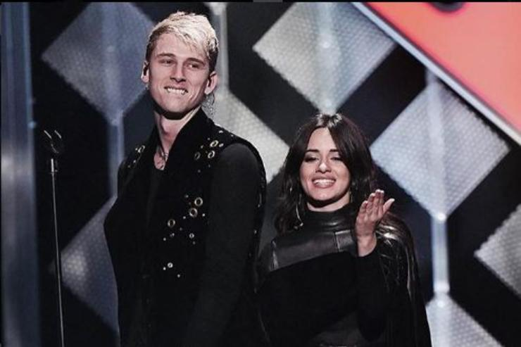 "Machine Gun Kelly and Camila Cabello performing ""Bad Things"" at Madison Square Garden."