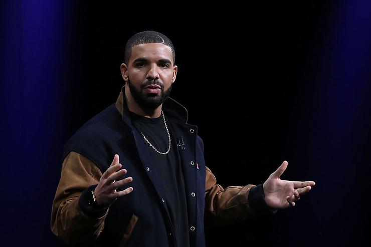 Drake speaks about Apple Music during the Apple WWDC on June 8, 2015 in San Francisco, California.