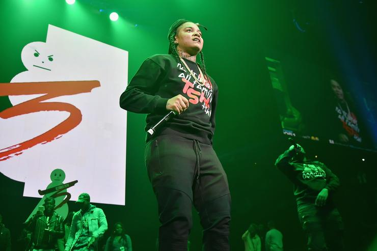 Young M.A performing at Power 105.1 Powerhouse 2016 event.