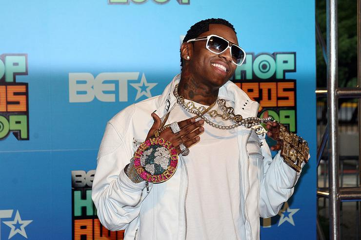 Soulja Boy attends the BET Hip Hop Awards '09 at the Boisfeuillet Jones Atlanta Civic Center on October 10, 2009 in Atlanta, Georgia.
