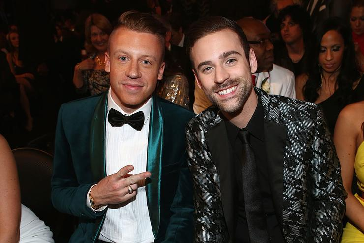 Macklemore (L) and Ryan Lewis, winners of Best New Artist attend the 56th GRAMMY Awards at Staples Center on January 26, 2014 in Los Angeles, California.