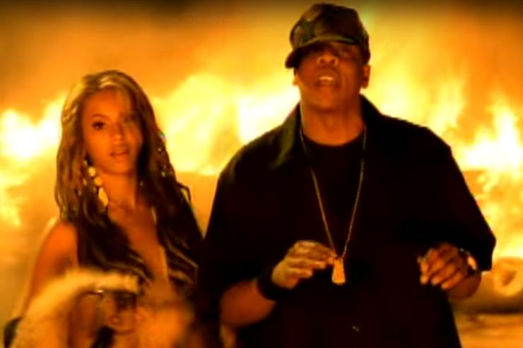 Jay Z and Beyonce in Crazy In Love music video