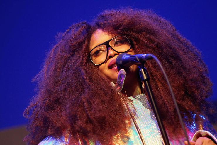 Singer Erykah Badu performs onstage during 2017 Essence Black Women in Music at NeueHouse Hollywood on February 9, 2017 in Los Angeles, California.