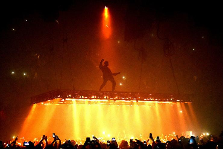 Singer Kanye West performs at the Forum on October 25, 2016 in Inglewood, California.
