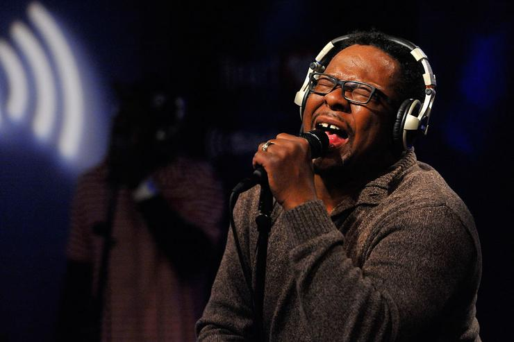 Bobby Brown performs on SiriusXM's 'Up Close & Personal' hosted by Cayman Kelly (not pictured) at SiriusXM Studio on December 18, 2015 in Washington, DC.