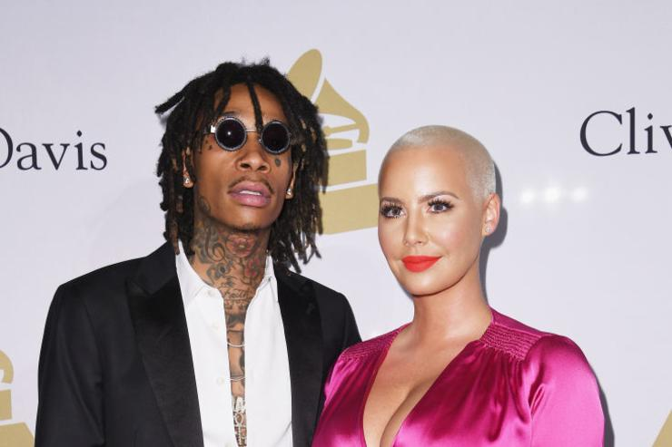 Wiz Khalifa (L) and Amber Rose attend Pre-GRAMMY Gala and Salute to Industry Icons Honoring Debra Lee at The Beverly Hilton on February 11, 2017 in Los Angeles, California.