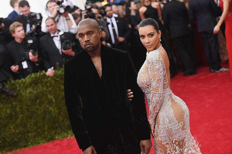 Kanye West (L) and Kim Kardashian attend the 'China: Through The Looking Glass' Costume Institute Benefit Gala at the Metropolitan Museum of Art on May 4, 2015 in New York City.