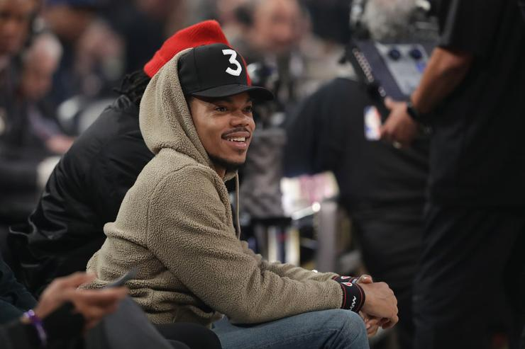 Chance The Rapper attends the 2017 Verizon Slam Dunk Contest at Smoothie King Center on February 18, 2017 in New Orleans, Louisiana.