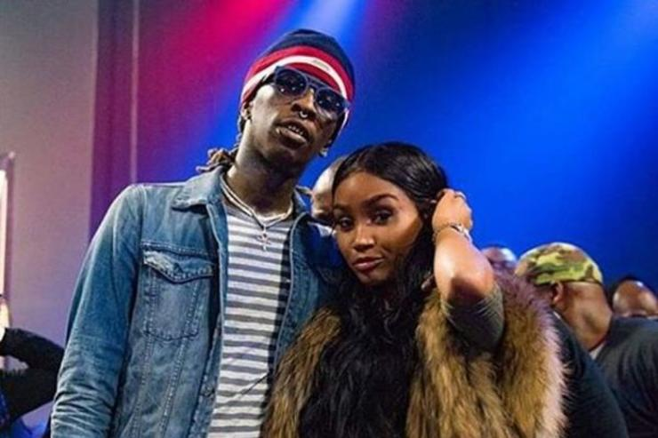 Young Thug and Jerrika Karlae pose for a picture.