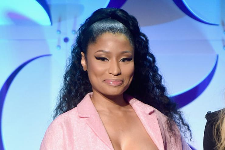 Nicki Minaj onstage at the Tidal launch event #TIDALforALL at Skylight at Moynihan Station on March 30, 2015 in New York City.
