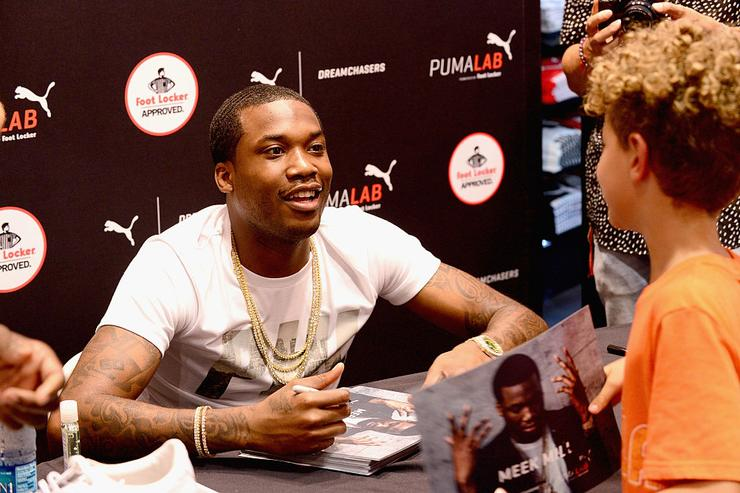 Meek Mill attends the Meek Mill debut of Dreamchasers x PUMA Collab at New Puma Lab powered by Foot Locker at Roosevelt Mall on July 15, 2016 in Philadelphia, Pennsylvania.