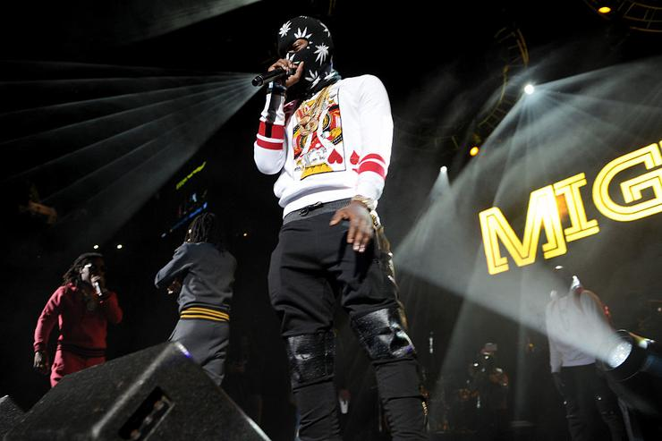 Rapper Offset of Migos performs on stage at Power 105.1's Powerhouse 2014 at Barclays Center of Brooklyn on October 30, 2014 in New York City.