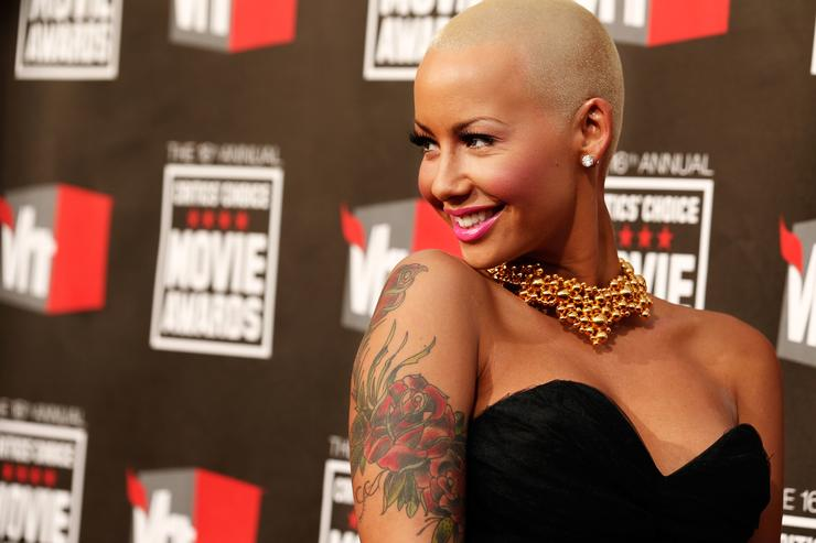 Amber Rose arrives at the 16th annual Critics' Choice Movie Awards at the Hollywood Palladium on January 14, 2011 in Los Angeles, California.