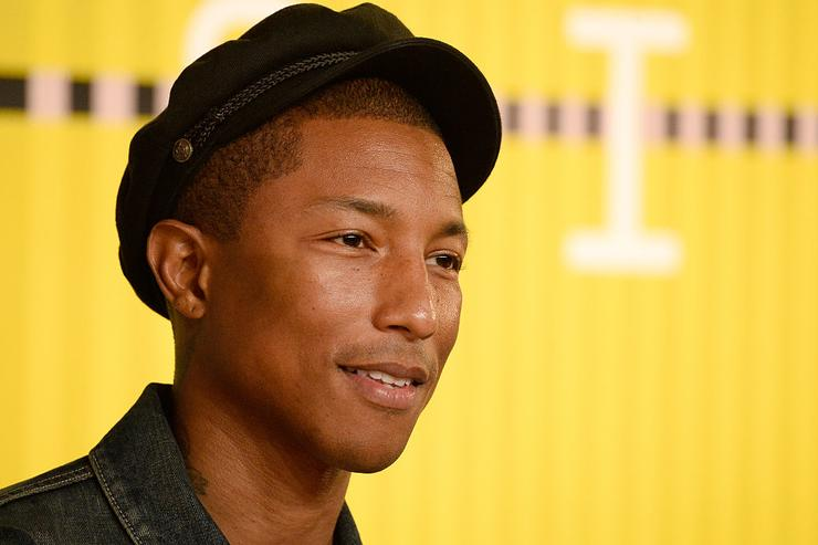 Pharrell Williams attends the 2015 MTV Video Music Awards at Microsoft Theater on August 30, 2015 in Los Angeles, California.