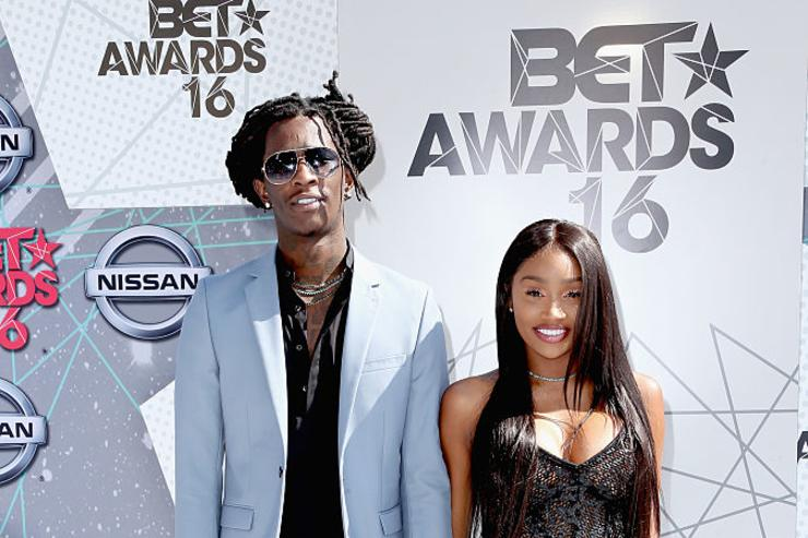 Young Thug (L) and Jerrika Karlae attends the 2016 BET Awards at the Microsoft Theater on June 26, 2016 in Los Angeles, California.