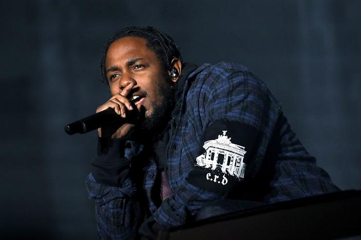 Kendrick Lamar performs on the Samsung Stage during day two at Austin City Limits Music Festival 2016 at Zilker Park on October 1, 2016 in Austin, Texas.