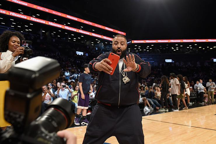 DJ Khaled participates in the Roc Nation Summer Classic Charity Basketball Tournament at Barclays Center of Brooklyn on July 21, 2016 in New York City.