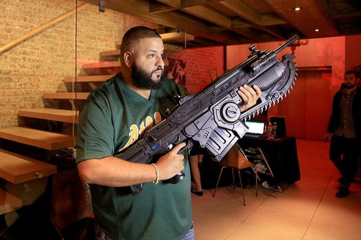 DJ Khaled attends Carmelo Anthony Xbox & Gears Of War 4 event at The Microsoft Loft on October 6, 2016 in New York City.