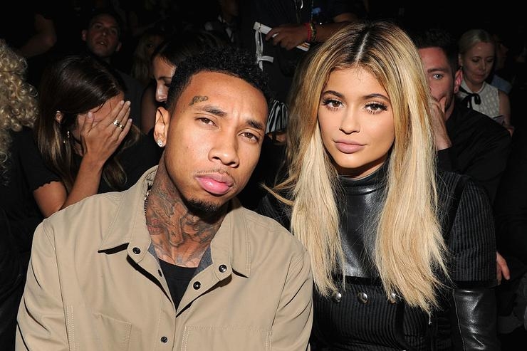 Tyga (L) and Kylie Jenner attend the Alexander Wang Spring 2016 fashion show during New York Fashion Week at Pier 94 on September 12, 2015 in New York City.
